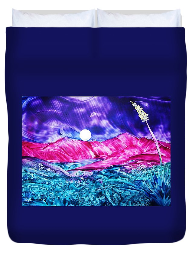 Bold Duvet Cover featuring the print Colorful Desert by Melinda Etzold