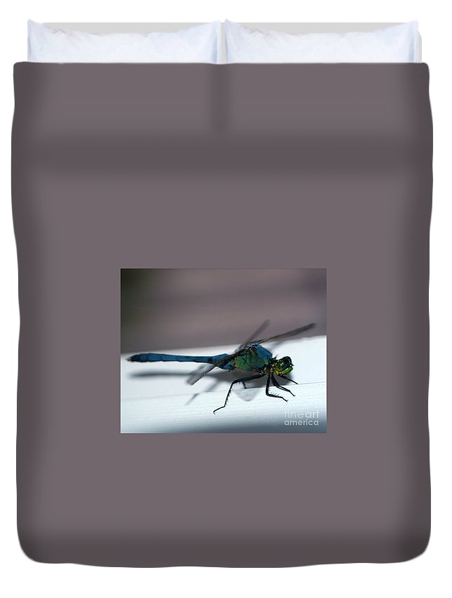 Clay Duvet Cover featuring the photograph Colorful Dragon by Clayton Bruster