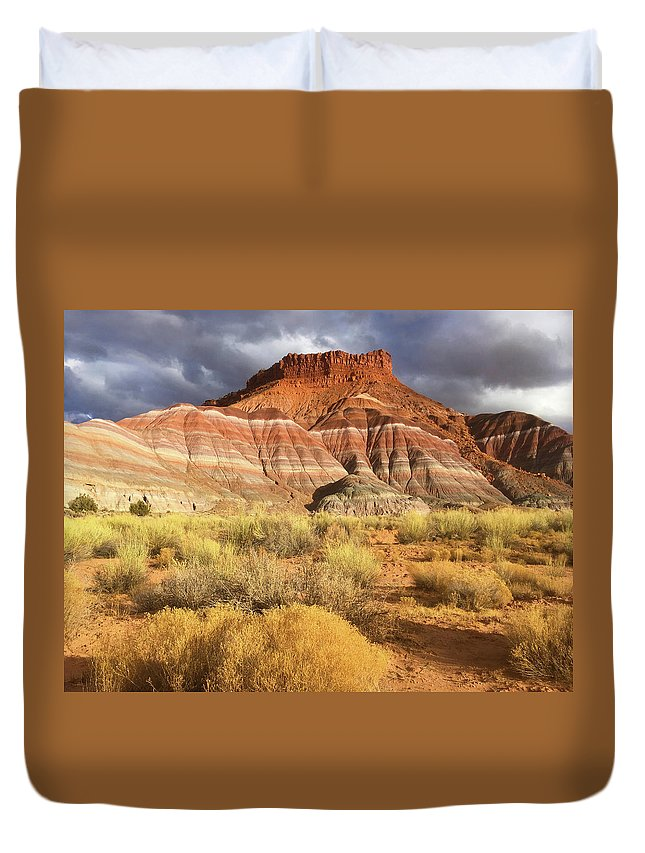 Utah Duvet Cover featuring the photograph Colorful Escalante Staircase by Carol Milisen