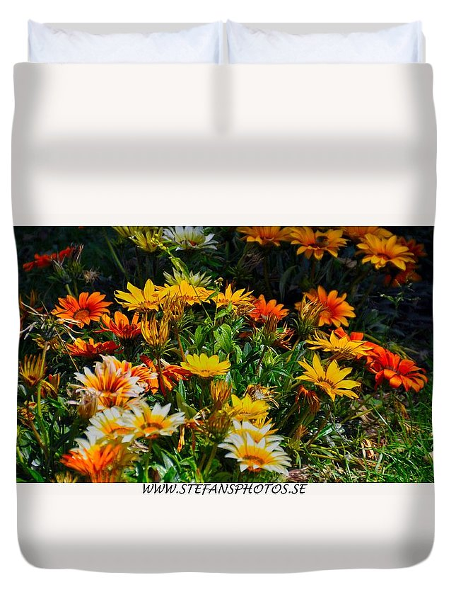 Garden Flowers Colors Nature Landscape Peru Duvet Cover featuring the photograph Colorful In The Garden by Stefan Pettersson