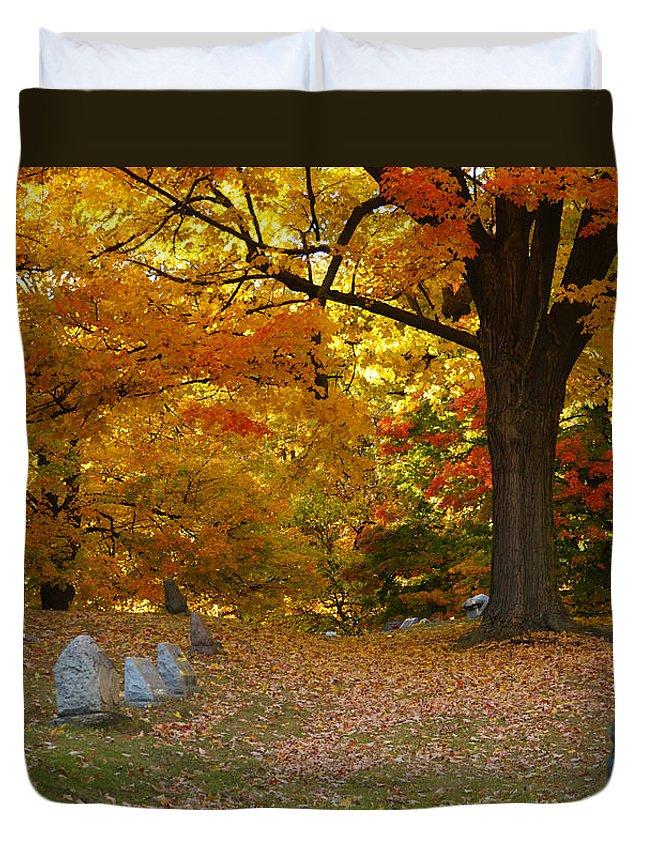 Colorful Rest Duvet Cover featuring the photograph Colorful Rest by Rachel Cohen