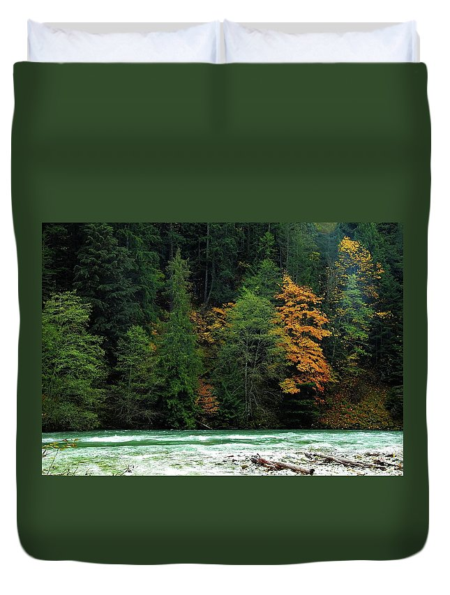 Autumn Duvet Cover featuring the photograph Colors In Nature by Sandra Peery