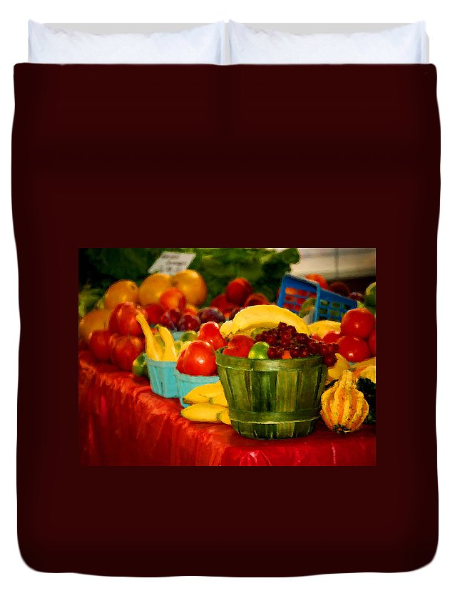 Tractors Duvet Cover featuring the digital art Colors Of Alabama by Michael Thomas