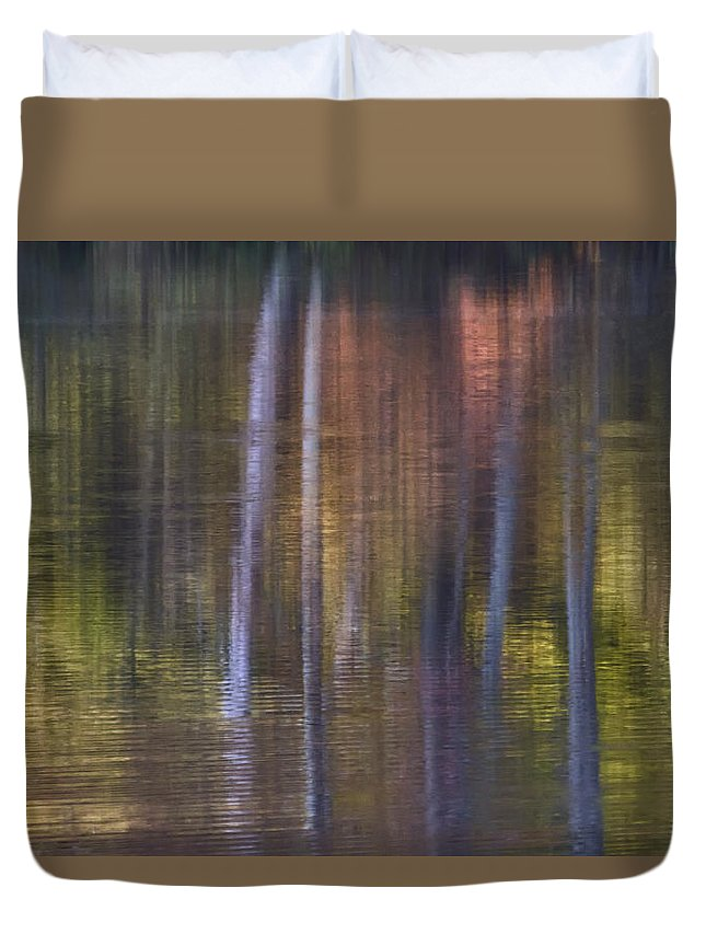 Abstract Duvet Cover featuring the photograph Colors Of Fall 03 by Jim Dollar