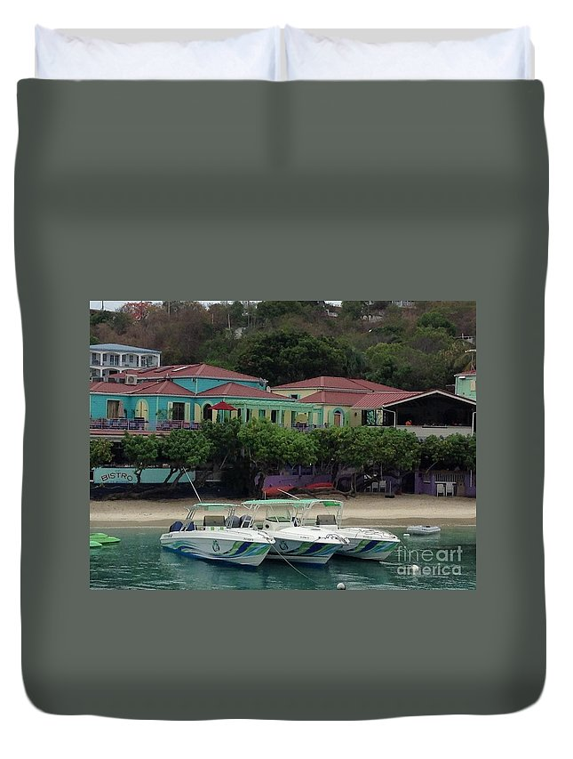 St. John Duvet Cover featuring the photograph Colors Of St. John Us Virgin Islands by Gina Sullivan