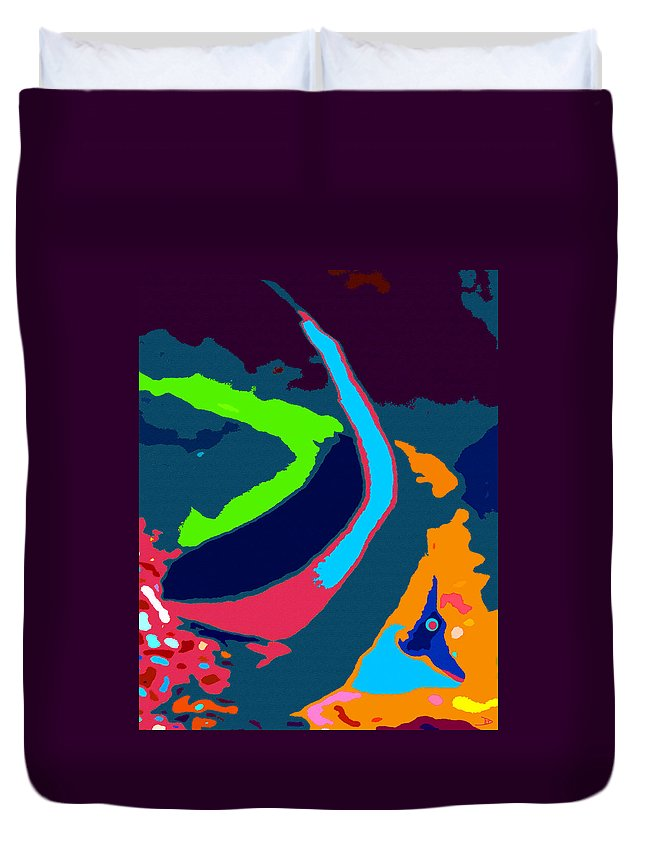 Colorful Beauty Duvet Cover featuring the painting Colors Of The Coral by David Lee Thompson