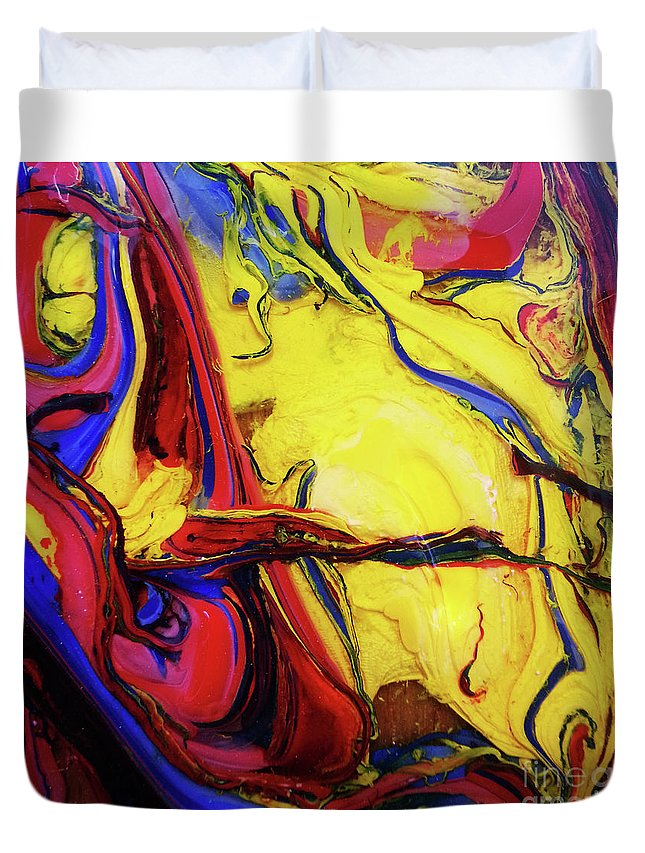 Art Duvet Cover featuring the painting Colors Of The Wind 4 by Nour Refaat