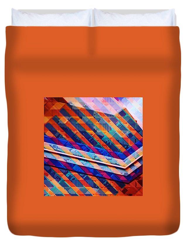 Art Duvet Cover featuring the digital art Colors Play by Marko Sabotin