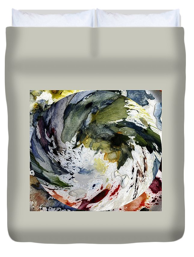 Colors Duvet Cover featuring the painting Colors - Spiral by Michael Vigliotti