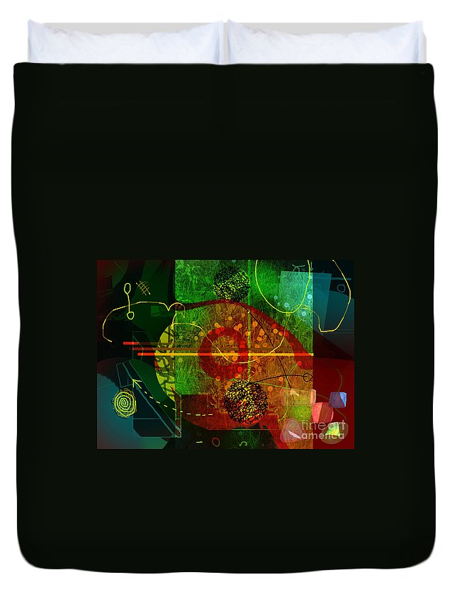 Abstract Duvet Cover featuring the digital art Colorscope by Andy Mercer