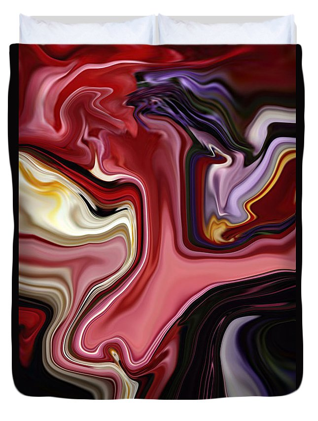Colour Duvet Cover featuring the digital art Colour Hair Day by Rabi Khan