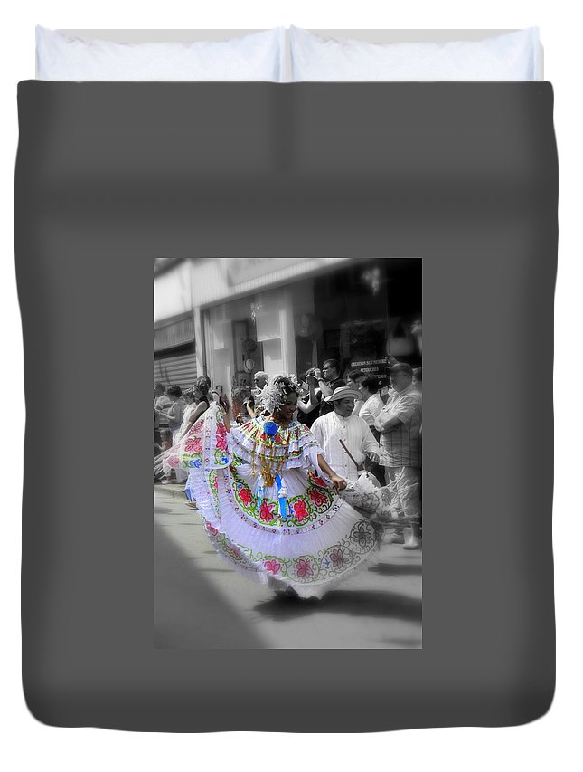 Colour Duvet Cover featuring the painting Colour In Motion..... by Jo Hoden
