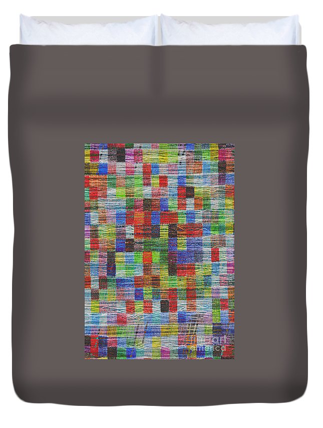 Color Squares Duvet Cover featuring the digital art Colour Square 2 by Andy Mercer