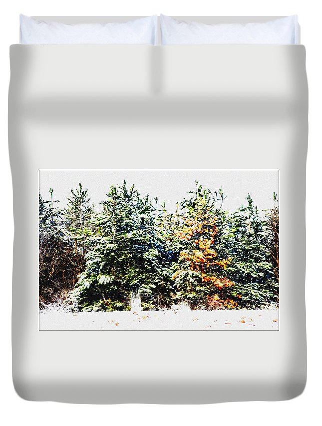 Tree Duvet Cover featuring the photograph Coloured Trees by Cliff Norton