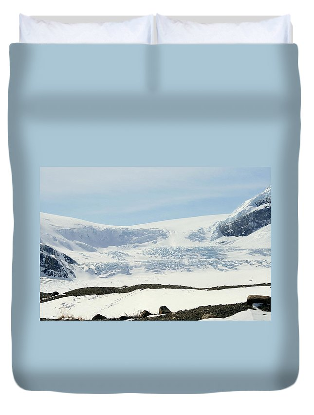 Glacier Duvet Cover featuring the photograph Columbia Icefields by Tiffany Vest