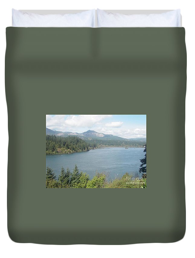 Columbia River Gorge Duvet Cover featuring the photograph Columbia River Gorge by Gregory Armstrong