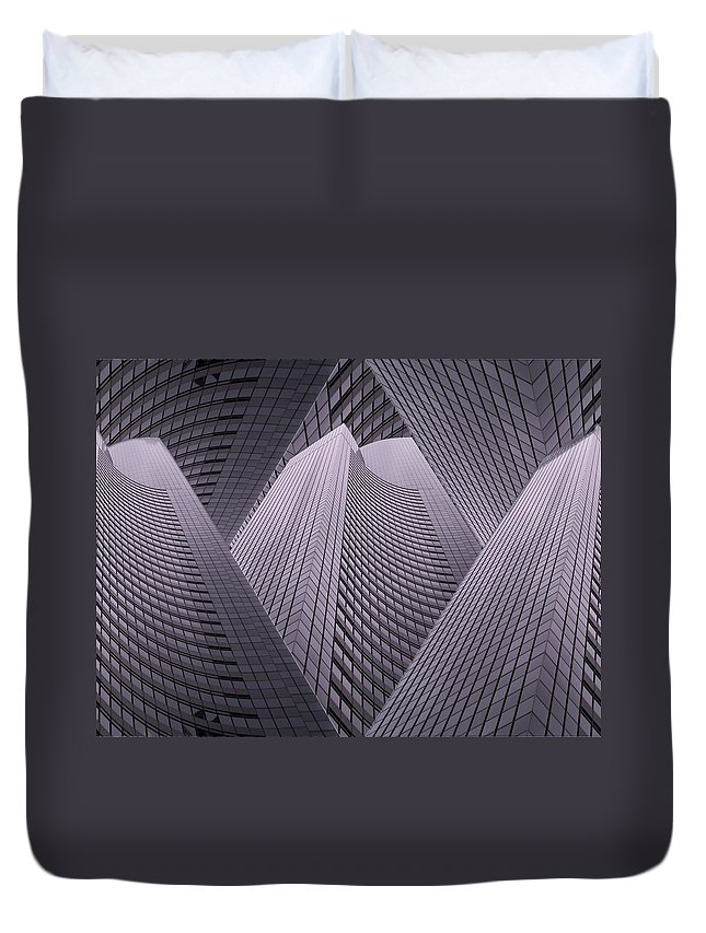 Seattle Duvet Cover featuring the digital art Columbia Tower Seattle Wa 2 by Tim Allen