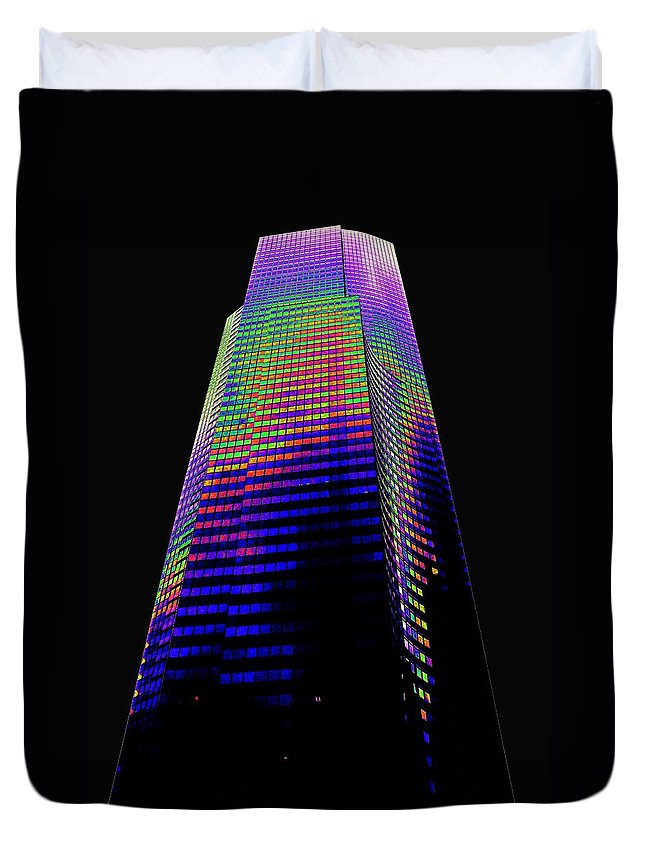 Seattle Duvet Cover featuring the photograph Columbia Tower Seattle Wa by Tim Allen