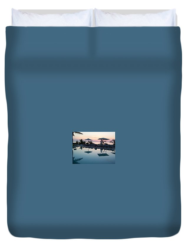 Charity Duvet Cover featuring the photograph Columbus Isle by Mary-Lee Sanders