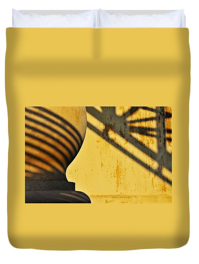 Architecture Duvet Cover featuring the photograph Comb Over by Skip Hunt