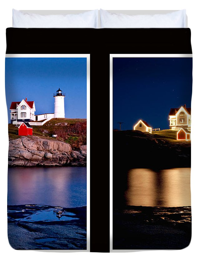 Nubble Duvet Cover featuring the photograph Combined Nubble by Greg Fortier