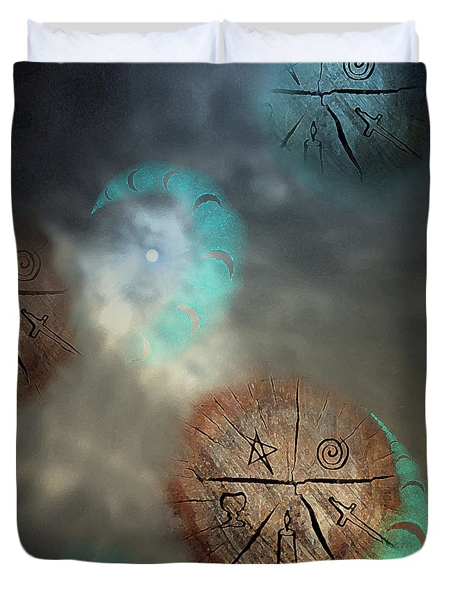 Fantasy Duvet Cover featuring the digital art Come And Find Me by Cyndy DiBeneDitto