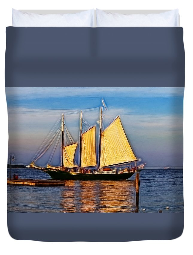 Alliance Duvet Cover featuring the photograph Come Sail Away by Amy Jackson