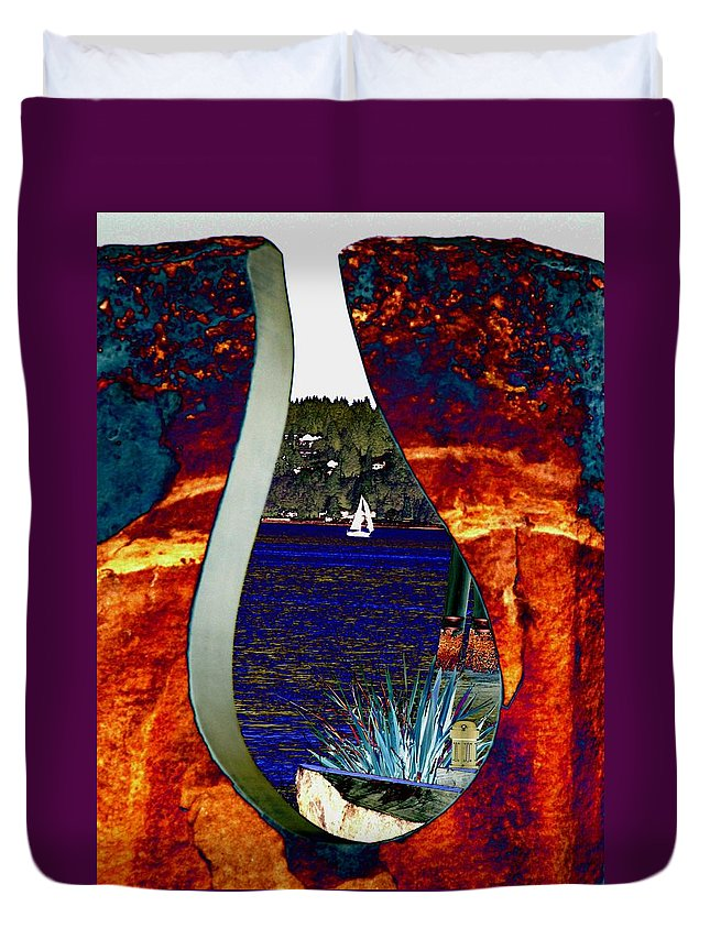 Bremerton Duvet Cover featuring the photograph Come Sail Away by Tim Allen