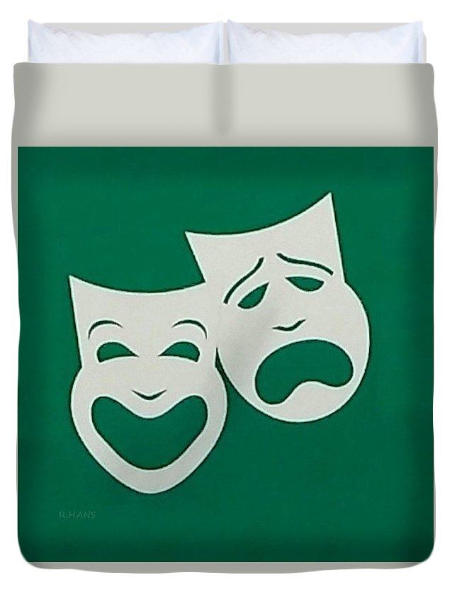 Comedy And Tragedy Duvet Cover featuring the photograph Comedy N Tragedy Original by Rob Hans