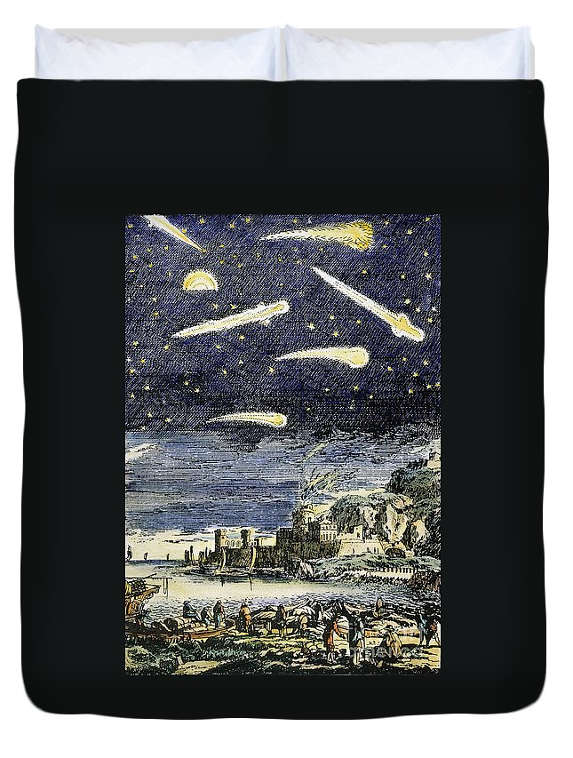 Comet Duvet Cover featuring the photograph Comets by Granger