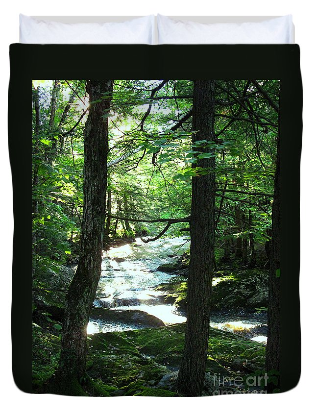 Water Duvet Cover featuring the photograph Peace And Comfort by Sybil Staples