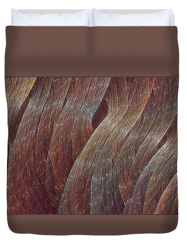 Duvet Cover featuring the digital art Comfortably Conflicted by Doug Morgan