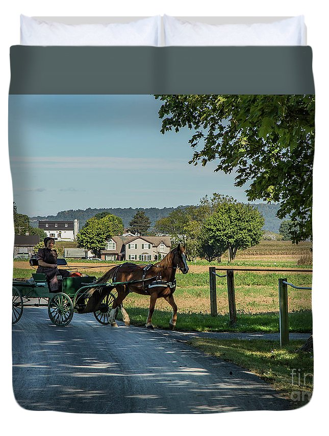 Lancaster Duvet Cover featuring the photograph Coming Home by Lisa Hurylovich