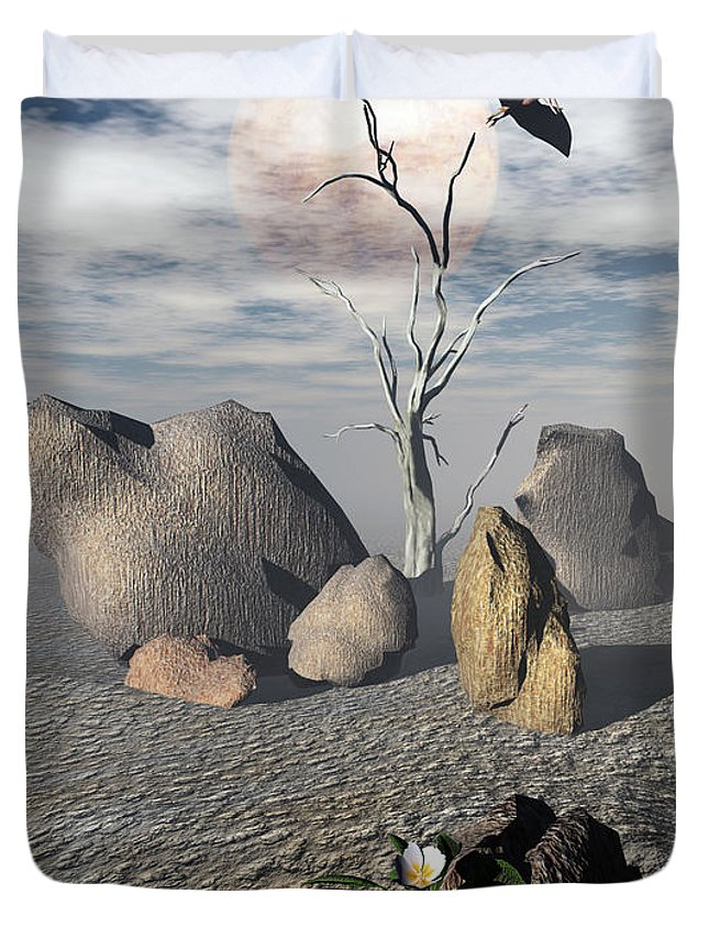 Ages Duvet Cover featuring the digital art Coming Of Age by Richard Rizzo