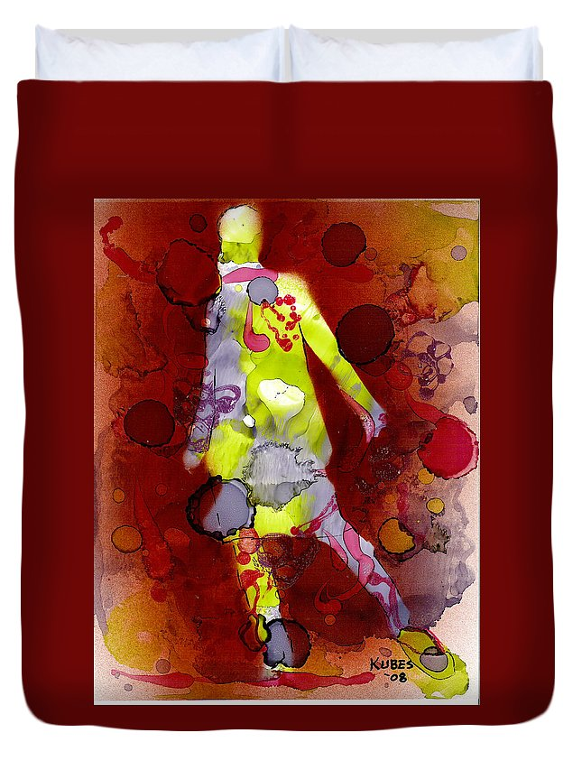 Woman Girl Female Impressionist Empowerment Duvet Cover featuring the mixed media Coming Of Age by Susan Kubes