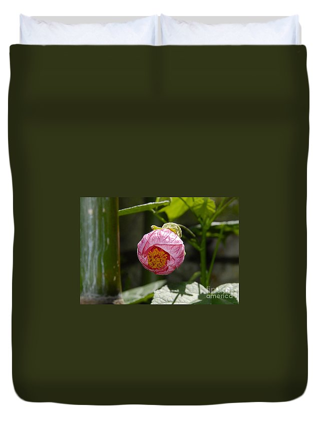 Flower Duvet Cover featuring the photograph Coming Out by David Lee Thompson