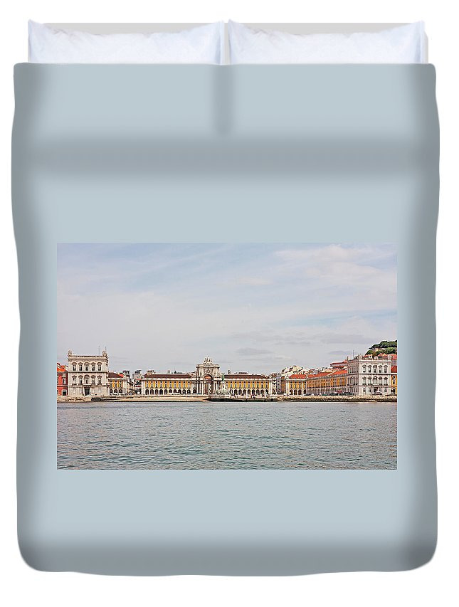 Ancient Duvet Cover featuring the photograph Commerce Square by Moura Pereira