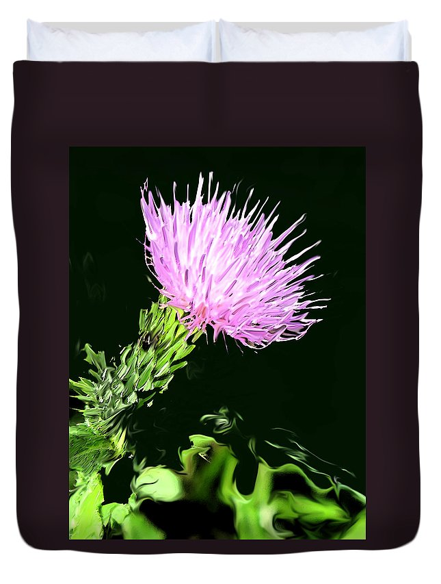 Weed Duvet Cover featuring the digital art Common Weed by Ian MacDonald