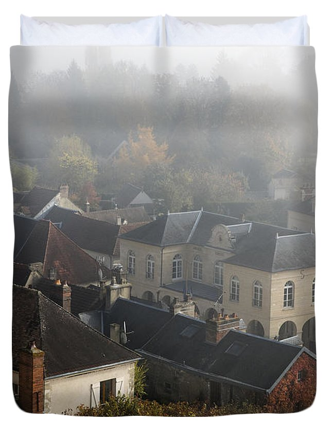 Commune Duvet Cover featuring the photograph Commune La Roche Guyon by Hugh Smith