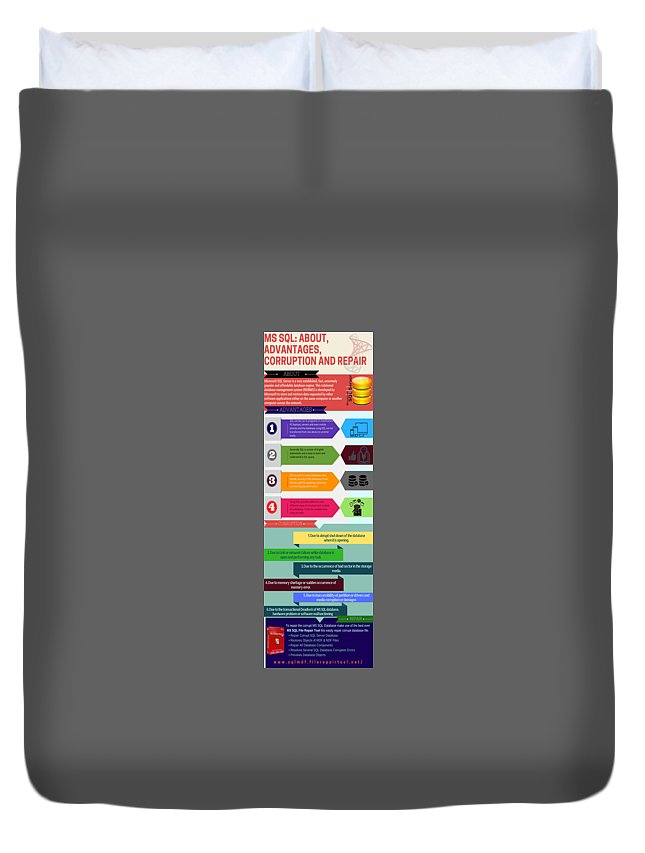 Repair Corrupt Mssql Database Duvet Cover featuring the photograph Complete Information About Ms Sql by Henry Rice