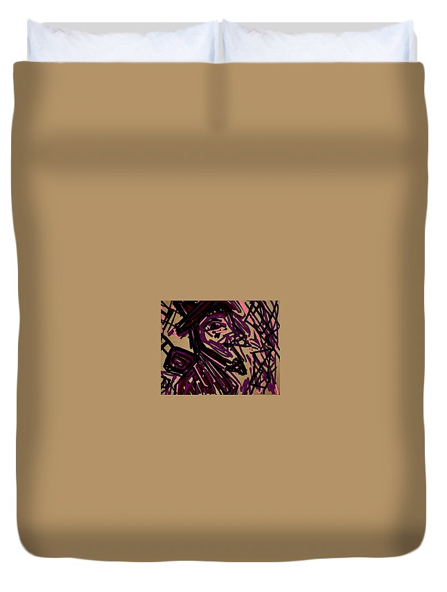 Complex Artist Duvet Cover featuring the painting Complex Artist by Peggy Leyva Conley