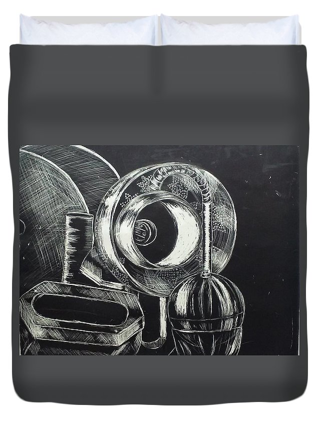 Duvet Cover featuring the photograph Complex by Christopher
