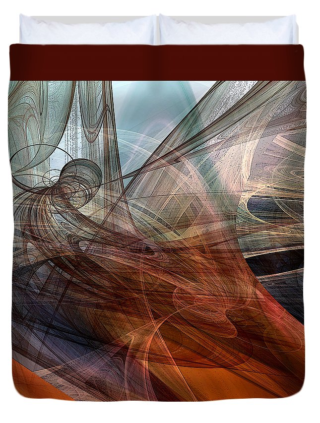 Abstract Duvet Cover featuring the digital art Complex Decisions by Ruth Palmer
