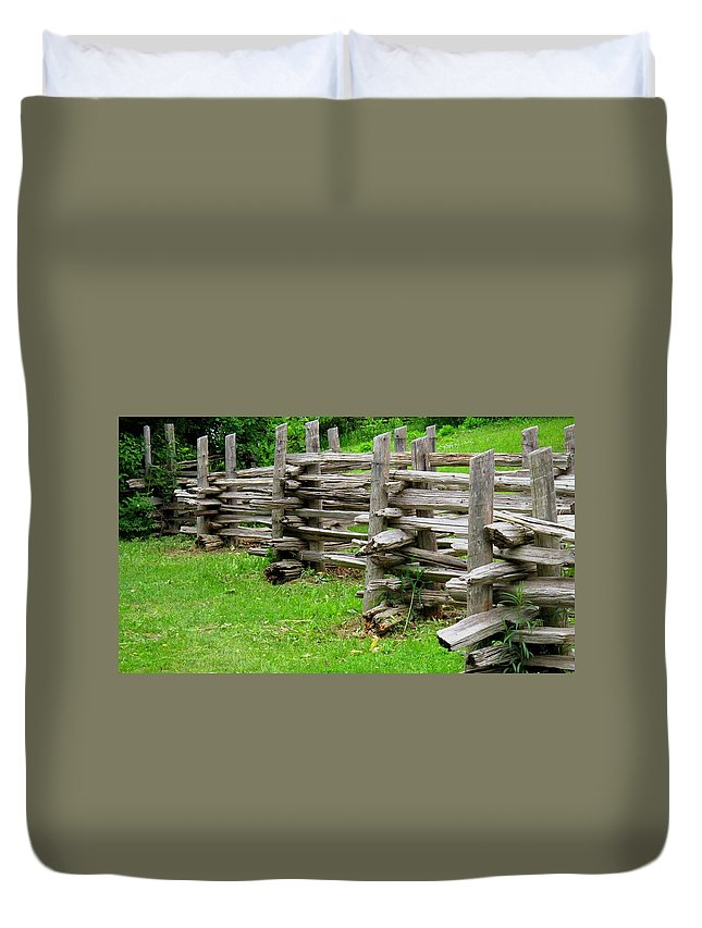 Split Duvet Cover featuring the photograph Complex Pattern by Ian MacDonald