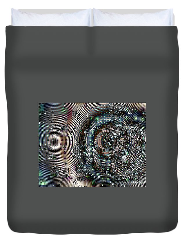 Fractal Duvet Cover featuring the digital art Complexity City by Richard Ortolano