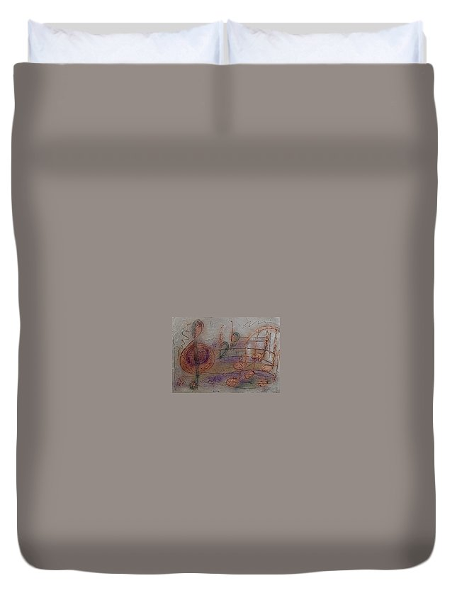 Impressionist Duvet Cover featuring the painting Composition In B Flat by Anita Burgermeister