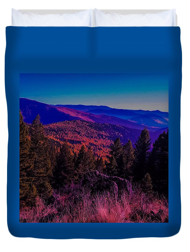 Duvet Cover featuring the photograph Comprehensive Equation by Dan Hassett