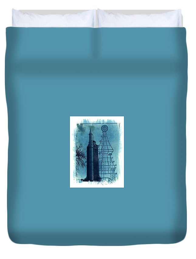 Alternative Process Photography Duvet Cover featuring the photograph Compton Blueprint by Jane Linders