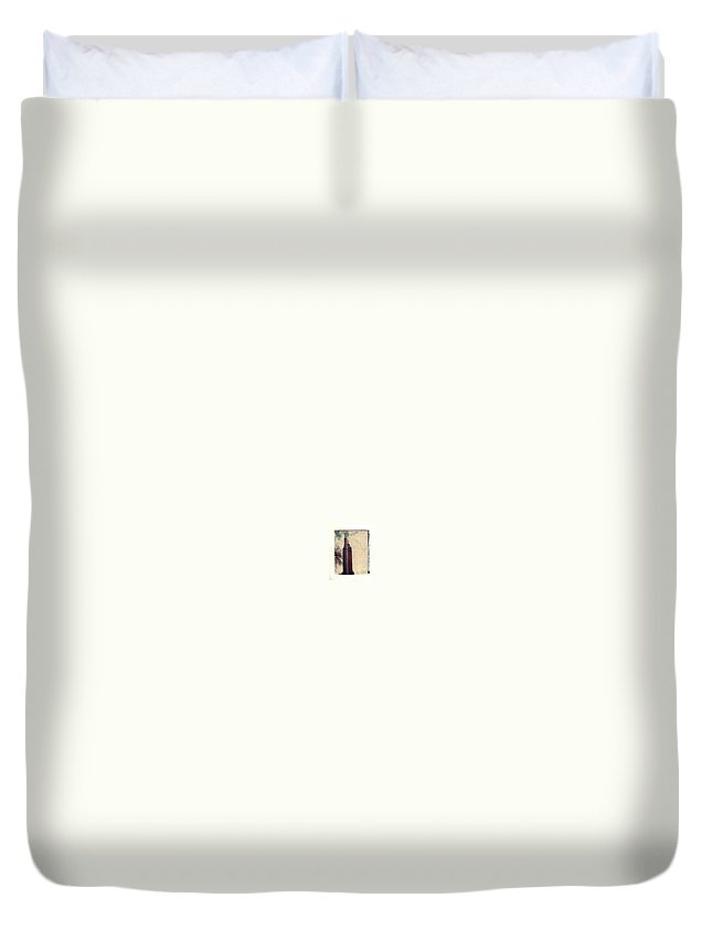 Polaroid Transfer Duvet Cover featuring the photograph Compton Water Tower by Jane Linders
