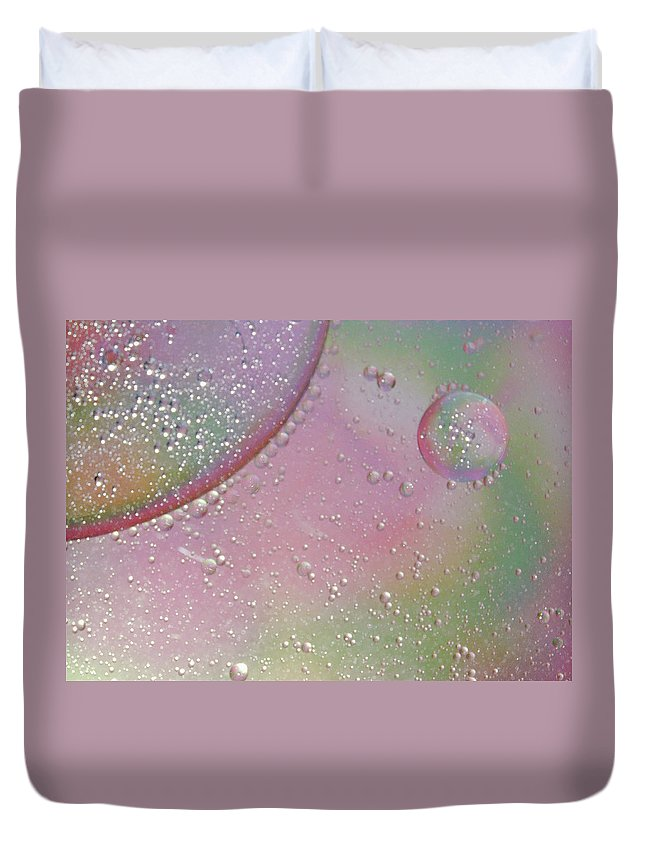 Abstract Duvet Cover featuring the photograph Conception by Michael Peychich